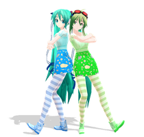 ::Miku and Gumi:: by SapphireRose-chan