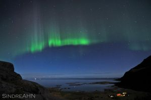 Auroras above Mjelle by SindreAHN