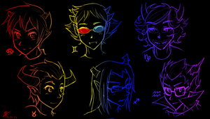 Homestuck Trolls [male] by Mossygator