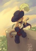Puss plays the Banjo by aun61