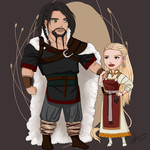 Viking Chibi Couple by Valravna