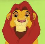 Simba Portrait by Animator-who-Draws
