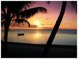 Sunset in Mauritius by yc