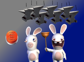 Rabbids Button And Anvils by locuaz15143