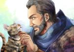 Ezio with the cat by Hinoe-0