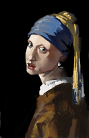 wip Girl with a Pearl Earring by jazreet911