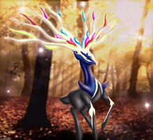 X Legendary Xerneas by SaraCorgi