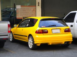 Yellow Civic hatch by gupa507
