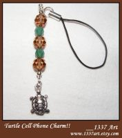 Turtle Cell Phone Charm by 1337-Art