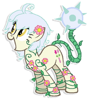 Custom Adoptable - Ball Thorns Plant Pony by JenyTheAlicorn