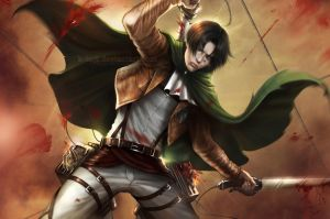 AoT: Captain Levi (Wallpaper) by K-Koji