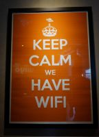 Keep Calm we have Wifi by tarynsgate