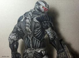 Crysis 3D realistic art on paper + timelapse video by Saules-dievas