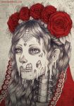 Melting Catrina by evilshara