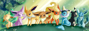 eeveelutions of DOOM 8D by EvilQueenie