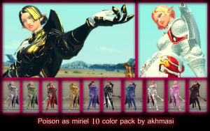 Usf4 Poison As Miriel 10 Color Pack By Akhmasi by akhmasi
