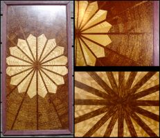 Sunburst Picture in Veneer by WaistedSpace