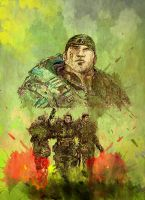 Gears of War 3 Painting by Astropeak