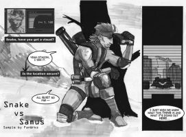 Snake VS Samus - Sample, pg. 1 by FanWrks