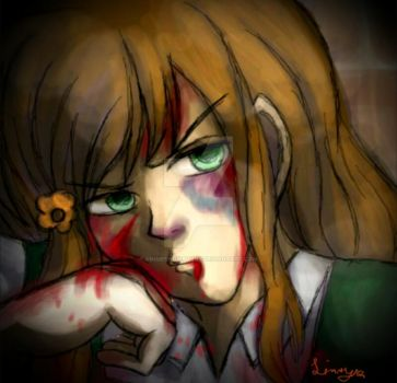 Day 21 Bloody and Beaten by AnimeSnowBunny