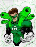 Green Lantern Gun Ready By Stevensanchez by Kenkira
