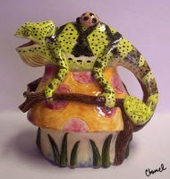 Chameleon Tea Pot by Chamel413