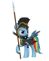 Rainbow Dash as Commander Hurricane in 3D by Clawed-Nyasu