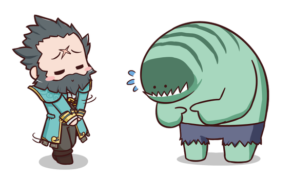 Dota2 Sticker - Kunkka and Tidehunter by chroneco