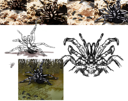 Spider attack WIPs by skycapx