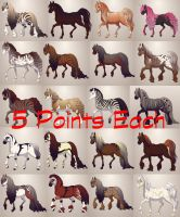 Horse Adoptables (Total of 20) by EnchantedEquine