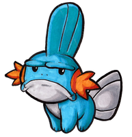 Disapproving Mudkip by Darkone10