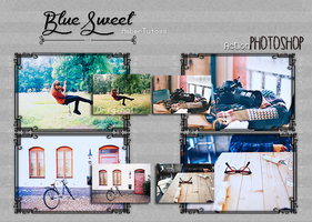 Blue Sweet Action/PSD  for Photoshop by Waatt