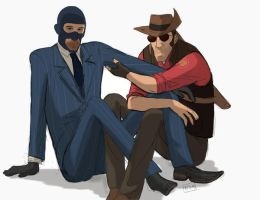 Spy and Sniper by royudai