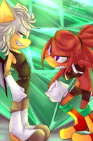 Knuxie and Rush //RANDOM SHIT// by rougechao