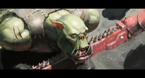 Ork prisoner by bugball