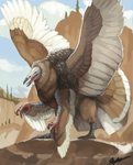 Turkey Vulture Painting by KGMomo