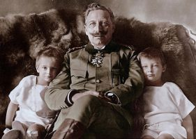 Kaiser with grandsons by KraljAleksandar