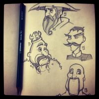 Moustaches! by EdBourg