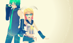 MMD - Rin and Mikuo by Shichi-4134