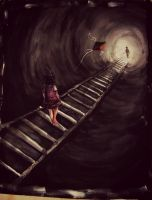 lost in tunnel by jesin-amina