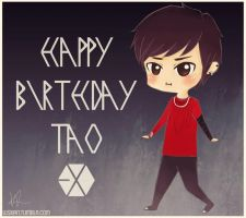 HAPPY BIRTHDAY PANDA TAO!! by eli-star