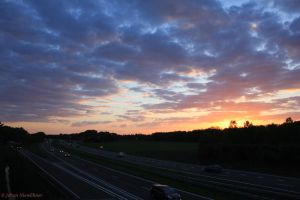 Sunset over the A 50 by jochniew