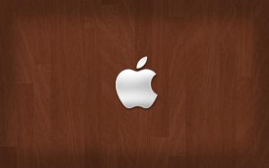 Apple on Wood by igelkotten