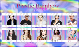 | Plastic Rainbow icons | by delightxpress
