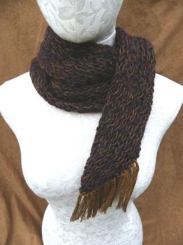 Fish Tail Scarf by SilverWheelYarn