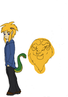 Lucas and his butt snake by sanr4
