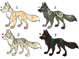 Assorted Canine Designs Batch 19 (CLOSED) by ChamberedNoctilus