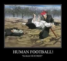 Bleach Mposter: HUMAN FOOTBALL by carmeltheneko