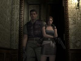 Resident Evil Remake Chris and Jill Alternative 2. by juniorbunny
