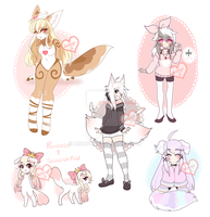 + character doodles + by Aishyu